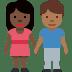 👩🏿🤝👨🏾 Dark Skin Tone Woman And Medium Dark Skin Tone Man Holding Hands Emoji on Facebook Platform