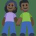 👫🏿 Dark Skin Tone Woman and Man Holding Hands Emoji on Facebook Platform