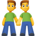 👬 men holding hands Emoji on Facebook Platform