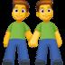 👬 Men Holding Hands Emoji on Facebook Platform