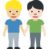 👨🏼🤝👨🏻 men holding hands: medium-light skin tone, light skin tone Emoji on Facebook Platform