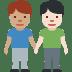 👨🏽🤝👨🏻 Medium Skin Tone And Light Skin Tone Men Holding Hands Emoji on Facebook Platform
