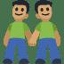 👬🏽 men holding hands: medium skin tone Emoji on Facebook Platform