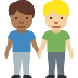 👨🏾‍🤝‍👨🏼 men holding hands: medium-dark skin tone, medium-light skin tone Emoji on Facebook Platform
