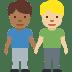 👨🏾🤝👨🏼 men holding hands: medium-dark skin tone, medium-light skin tone Emoji on Facebook Platform