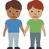 👨🏾‍🤝‍👨🏽 Medium Dark Skin Tone And Medium Skin Tone Men Holding Hands Emoji on Facebook Platform