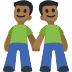 👬🏾 men holding hands: medium-dark skin tone Emoji on Facebook Platform