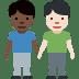 👨🏿🤝👨🏻 men holding hands: dark skin tone, light skin tone Emoji on Facebook Platform