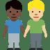 👨🏿🤝👨🏼 men holding hands: dark skin tone, medium-light skin tone Emoji on Facebook Platform