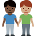 👨🏿‍🤝‍👨🏽 men holding hands: dark skin tone, medium skin tone Emoji on Facebook Platform