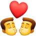 👨‍❤️‍💋‍👨 kiss: man, man Emoji on Facebook Platform