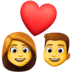 👩‍❤️‍👨 Woman And Man Couple With Heart Emoji on Facebook Platform