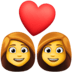 👩‍❤️‍👩 couple with heart: woman, woman Emoji on Facebook Platform
