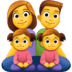 👨👩👧👧 family: man, woman, girl, girl Emoji on Facebook Platform