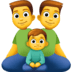 👨‍👨‍👦 Family With Man, Man And Boy Emoji on Facebook Platform