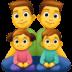👨👨👧👦 family: man, man, girl, boy Emoji on Facebook Platform
