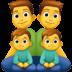 👨👨👦👦 family: man, man, boy, boy Emoji on Facebook Platform