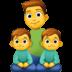 👨👦👦 family: man, boy, boy Emoji on Facebook Platform