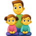 👨👧👦 family: man, girl, boy Emoji on Facebook Platform