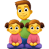 👨👧👧 family: man, girl, girl Emoji on Facebook Platform