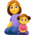 👩👧 family: woman, girl Emoji on Facebook Platform