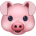 🐷 pig face Emoji on Facebook Platform