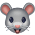 🐭 mouse face Emoji on Facebook Platform