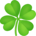 🍀 four leaf clover Emoji on Facebook Platform