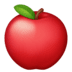 🍎 red apple Emoji on Facebook Platform