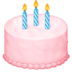 🎂 birthday cake Emoji on Facebook Platform