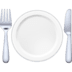 🍽️ fork and knife with plate Emoji on Facebook Platform