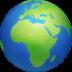 🌍 globe showing Europe-Africa Emoji on Facebook Platform