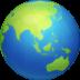 🌏 globe showing Asia-Australia Emoji on Facebook Platform