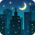 🌃 night with stars Emoji on Facebook Platform