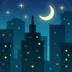 🌃 night with stars Emoji on Facebook Platform