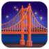 🌉 bridge at night Emoji on Facebook Platform
