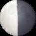 🌗 Last Quarter Moon Emoji on Facebook Platform