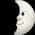 🌛 first quarter moon face Emoji on Facebook Platform