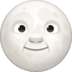 🌝 Full Moon Face Emoji on Facebook Platform