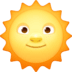 🌞 sun with face Emoji on Facebook Platform