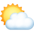 ⛅ sun behind cloud Emoji on Facebook Platform