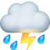 ⛈️ cloud with lightning and rain Emoji on Facebook Platform