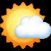 🌤️ sun behind small cloud Emoji on Facebook Platform