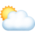 🌥️ sun behind large cloud Emoji on Facebook Platform