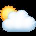 🌥️ Sun Behind Large Cloud Emoji on Facebook Platform