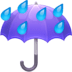 ☔ umbrella with rain drops Emoji on Facebook Platform