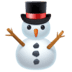 ⛄ snowman without snow Emoji on Facebook Platform