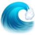 🌊 water wave Emoji on Facebook Platform