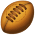 🏉 rugby football Emoji on Facebook Platform