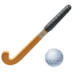 🏑 field hockey Emoji on Facebook Platform